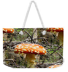 Magic Mushrooms Weekender Tote Bag by Natalie Ortiz