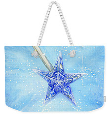 Weekender Tote Bag featuring the painting Magic Wand by Cindy Garber Iverson