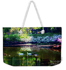 Magical Beauty At The Azalea Pond Weekender Tote Bag by Tamyra Ayles