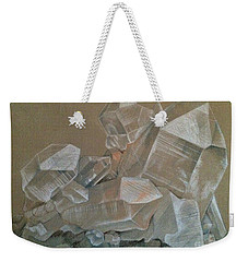 Weekender Tote Bag featuring the photograph Magical Beauty Of Quartz Crystal by Miriam Danar