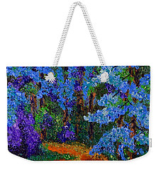 Magical Blue Forest Weekender Tote Bag