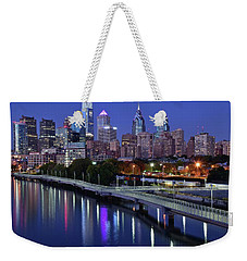 Magical Blue Hour Night Weekender Tote Bag by Frozen in Time Fine Art Photography