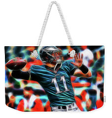 Weekender Tote Bag featuring the painting Magical Carson Wentz by Paul Van Scott