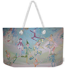 Magical Elf Dance Weekender Tote Bag by Judith Desrosiers