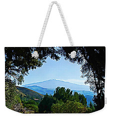 Weekender Tote Bag featuring the photograph Magical Etna by Lucia Sirna