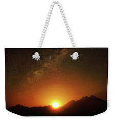 Magical Milkyway Above The African Mountains Weekender Tote Bag