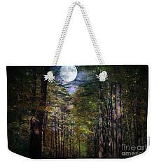 Magical Moonlit Forest Weekender Tote Bag by Judy Palkimas