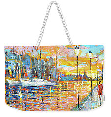 Weekender Tote Bag featuring the painting Magical Sunset by Dmitry Spiros