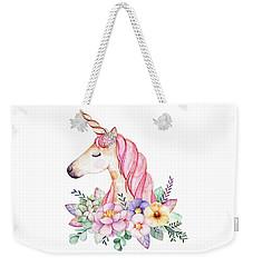 Magical Watercolor Unicorn Weekender Tote Bag