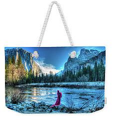 Magical Winter In Yosemite Weekender Tote Bag