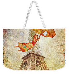 Magically Paris Weekender Tote Bag by Christina Lihani
