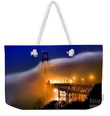 Magical Golden Gate Bridge In The Moonlight Weekender Tote Bag
