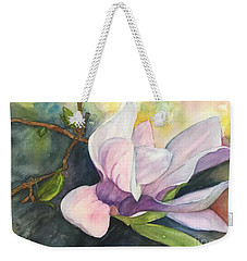 Weekender Tote Bag featuring the painting Magnificent Magnolia by Lucia Grilletto