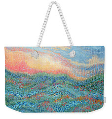 Magnificent Sunset Weekender Tote Bag by Holly Carmichael