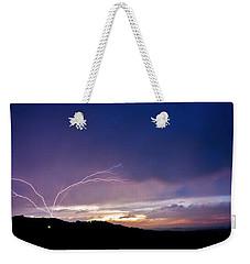 Magnificent Sunset Lightning Weekender Tote Bag