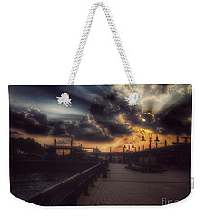 Magnificent Sunset - On The Boardwalk Weekender Tote Bag