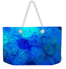 Magnified Blue Water Drops-abstract Weekender Tote Bag