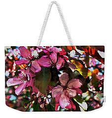 Magnolia Abstract Weekender Tote Bag by Marsha Heiken