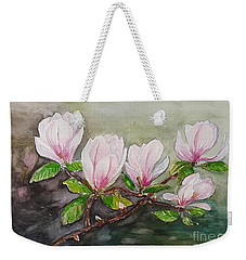 Magnolia Blossom - Painting Weekender Tote Bag by Veronica Rickard