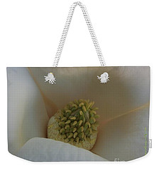 Magnolia Macro Against Purple Weekender Tote Bag