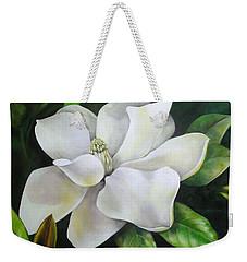 Magnolia Oil Painting Weekender Tote Bag