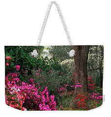 Weekender Tote Bag featuring the photograph Magnolia Plantation - Fs000148a by Daniel Dempster