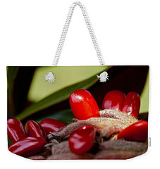 Magnolia Seeds Weekender Tote Bag by Christopher Holmes