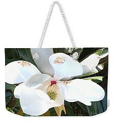 Magnolia Tree Bloom Weekender Tote Bag by Debra Crank