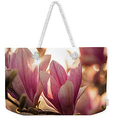 Magnolias At Sunset Weekender Tote Bag