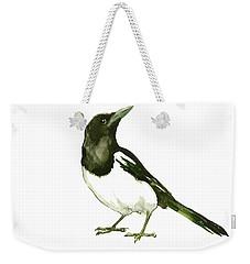 Magpie Weekender Tote Bag by Suren Nersisyan