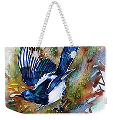 Magpie-two For Joy  Weekender Tote Bag by Trudi Doyle
