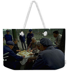 Weekender Tote Bag featuring the photograph Mahjong In Guangzhou by Travel Pics