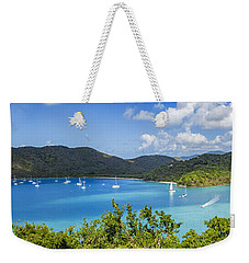 Weekender Tote Bag featuring the photograph Maho And Francis Bays On St. John, Usvi by Adam Romanowicz