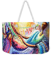Mai Goge Master Guitarist Weekender Tote Bag by Bankole Abe