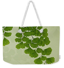 Maiden Hair Fern With Shadows Weekender Tote Bag