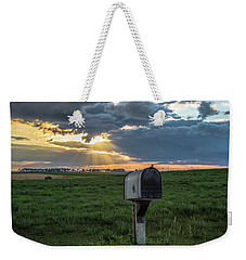 Mail Box In North Dakota  Weekender Tote Bag