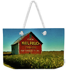 Weekender Tote Bag featuring the painting Mail Pouch Barn P D P by David Dehner