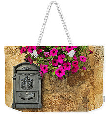 Mailbox With Petunias Weekender Tote Bag