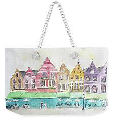 Main Square Brugges Weekender Tote Bag by Keshava Shukla