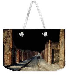 Weekender Tote Bag featuring the digital art Main Street, Pompeii by Lois Bryan