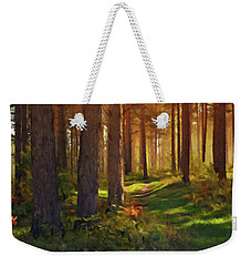 Weekender Tote Bag featuring the photograph Maine Forest Sunset by David Dehner