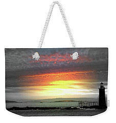 Maine Lighthouse Weekender Tote Bag