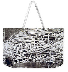 Maine Logging -  C 1903 Weekender Tote Bag by International  Images