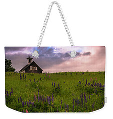 Maine Lupines And Home After Rain And Storm Weekender Tote Bag by Ranjay Mitra