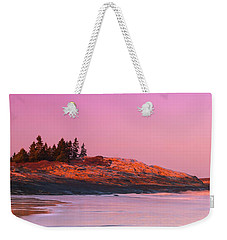 Maine Sheepscot River Bay With Cuckolds Lighthouse Sunset Panorama Weekender Tote Bag by Ranjay Mitra