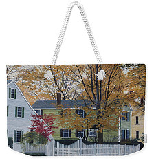 Autumn Day On Maine Street, Kennebunkport Weekender Tote Bag