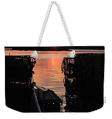 Maine Sunset And Traps Weekender Tote Bag