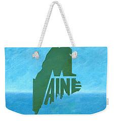Maine Wordplay Weekender Tote Bag