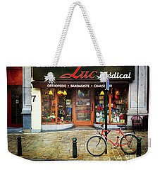 Weekender Tote Bag featuring the photograph Maison Luc Bicycle by Craig J Satterlee