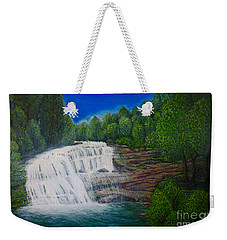 Majestic Bald River Falls Of Appalachia II Weekender Tote Bag by Kimberlee Baxter